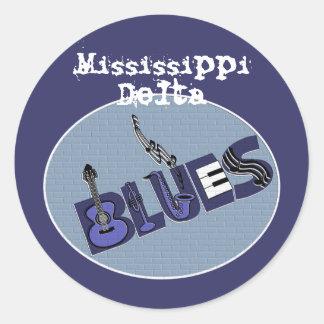 Pegatina de los azules del delta de Mississippi