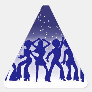 Pegatina de los bailarines del disco (triángulo)