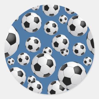 Pegatina de los balones de fútbol del fútbol