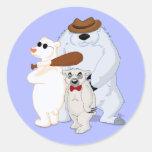 Pegatina de los bandidos del oso polar