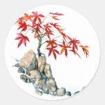 Pegatina de los bonsais del arce rojo de