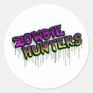 Pegatina de los cazadores del zombi