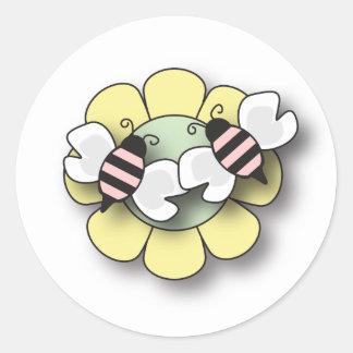 Pegatina de los chicas del gemelo de la abeja del