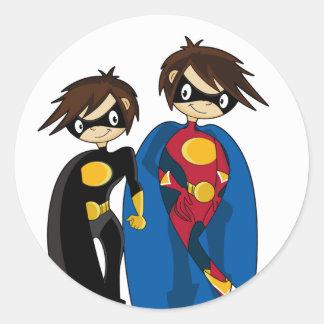 Pegatina de los chicas del super héroe