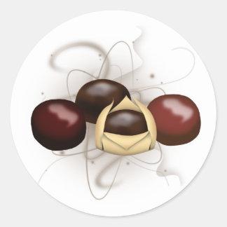Pegatina de los chocolates