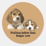 Pegatina de los compinches del beagle