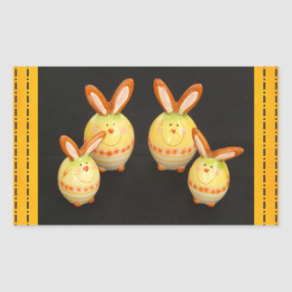 Pegatina de los conejitos de pascua