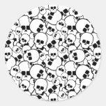 Pegatina de los cráneos