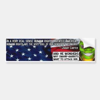 Pegatina de los derechos humanos ($4) - modificado pegatina de parachoque