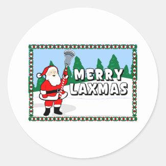 Pegatina de los diseños MerryLaxmas3 de LaCrosse