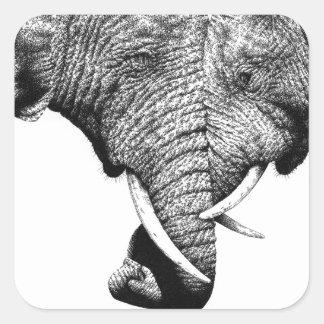Pegatina de los elefantes africanos