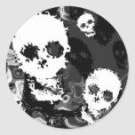 Pegatina de los espectros B&W del cráneo