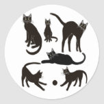Pegatina de los gatos negros