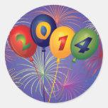 Pegatina de los globos y de los fuegos artificiale