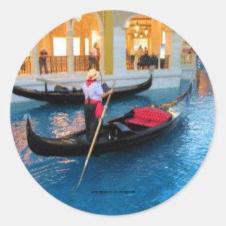 Pegatina de los gondoleros de Las Vegas Venecia