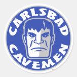 Pegatina de los hombres de las cavernas de