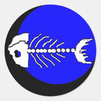 Pegatina de los huesos de pescados