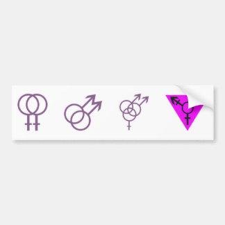 Pegatina de los LGBT-Símbolos Pegatina Para Auto
