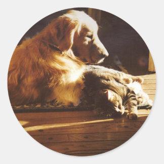Pegatina de los mejores amigos del golden