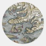Pegatina de los monstruos de mar del mapa de Ortel