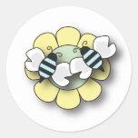 Pegatina de los muchachos del gemelo de la abeja