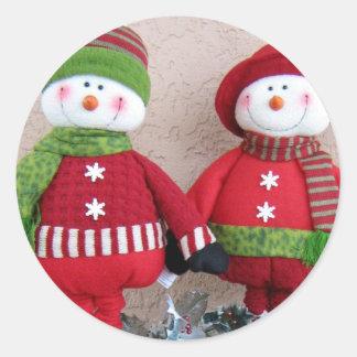 Pegatina de los muñecos de nieve