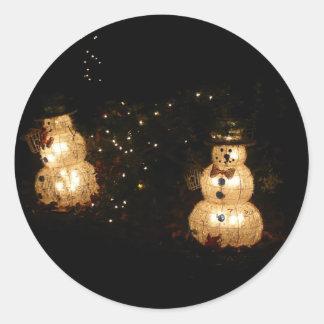 Pegatina de los muñecos de nieve de la Luz-Para
