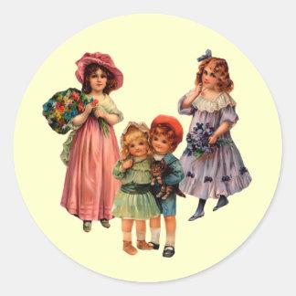 Pegatina de los niños del Victorian de la