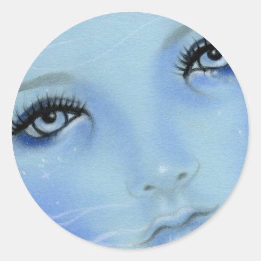 Pegatina de los ojos azules de la sirena