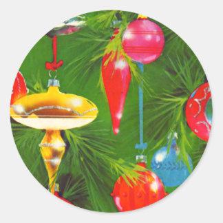 Pegatina de los ornamentos del navidad del vintage