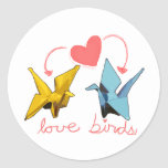 pegatina de los pájaros del amor