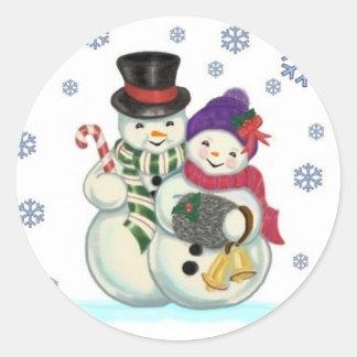 Pegatina de los pares del muñeco de nieve