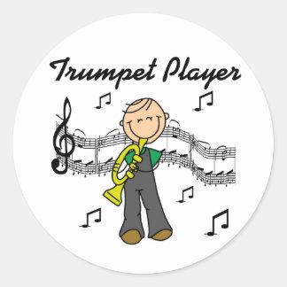 Pegatina de los pegatinas del jugador de trompeta