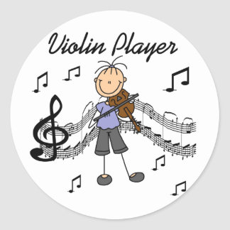 Pegatina de los pegatinas del jugador del violín