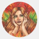 Pegatina de los pensamientos del otoño
