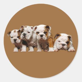 Pegatina de los perritos del dogo