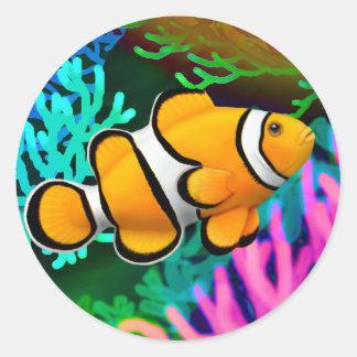 Pegatina de los pescados de Anenome del payaso de