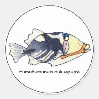 Pegatina de los pescados de Humuhumunukunukuapua a