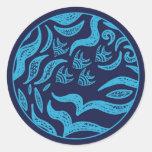 Pegatina de los pescados de la familia del océano