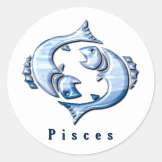 Pegatina de los pescados de Piscis