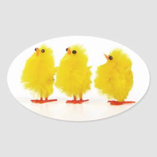 Pegatina de los polluelos del bebé de Pascua