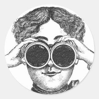 Pegatina de los prismáticos de Steampunk