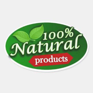 Pegatina de los productos naturales del 100%