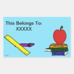 Pegatina de los profesores