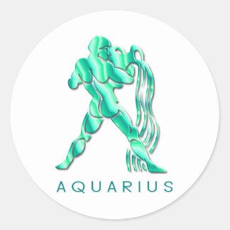 Pegatina de los rasgos del acuario