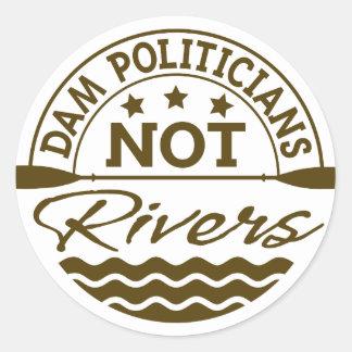 Pegatina de los ríos de los políticos del DAM NO