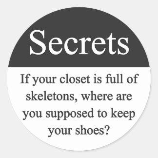 Pegatina de los secretos