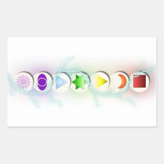 Pegatina de los símbolos de Chakra