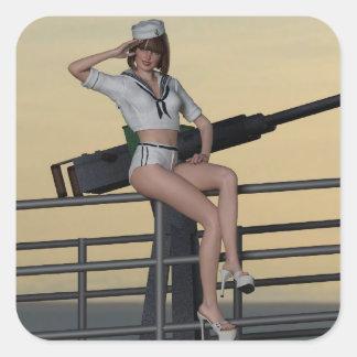 Pegatina de los toros del chica del marinero