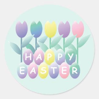 Pegatina de los tulipanes de los huevos de Pascua